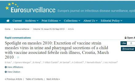 Neželjene reakcije vezanе za vakcinalni soj: Hrvatska 2010.
