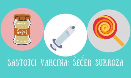 Sukroza / saharoza u sastavu vakcina