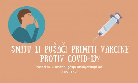 Pušenje i COVID-19 vakcine/cjepiva: Smiju li ih pušači primiti?