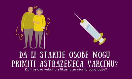 AstraZeneca vakcina i starije osobe: efikasnost i sigurnost