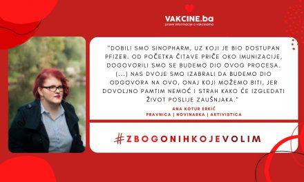 Lično iskustvo COVID-19  vakcinacije: Ana Kotur Erkić