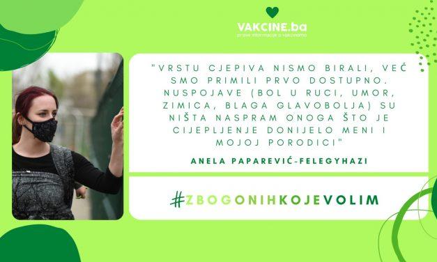 Lično iskustvo vakcinacije protiv COVID-19: Anela Paparević-Felegyhazi