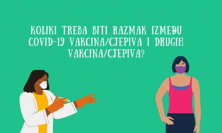 Vakcine protiv COVID-19 i druge vakcine: da li je potreban razmak?