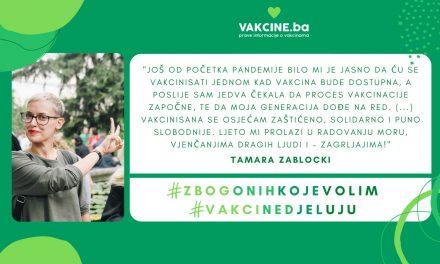 Tamara Zablocki, iskustvo COVID-19 vakcinacije: strah od igli?