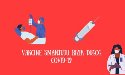 Vakcine smanjuju rizik od dugotrajnog COVID-19