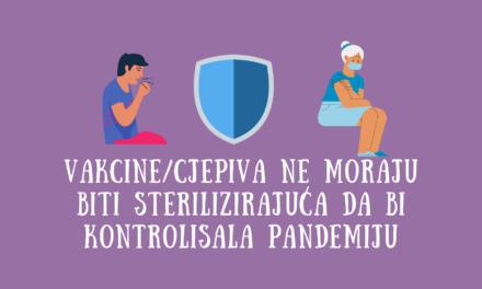 Da li vakcine/cjepiva moraju biti sterilizirajuća da kontrolišu pandemiju?