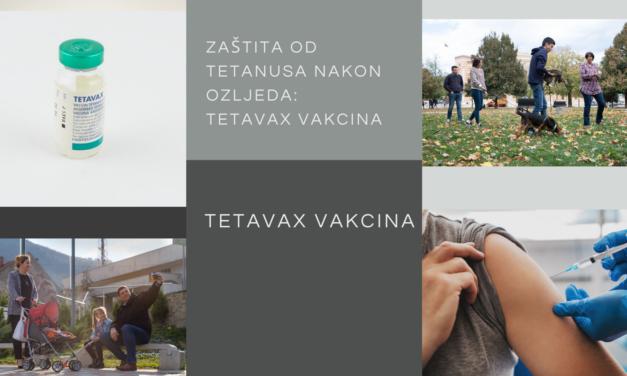 Postekspozicijska zaštita od tetanusa nakon povreda: Tetavax vakcina