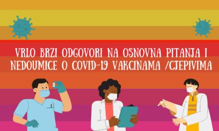 Informacije o COVID-19 VAKCINAMA/cjepivima: osnovno i kratko